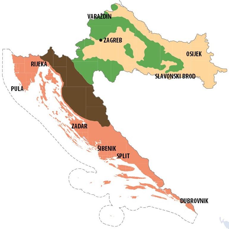Karta Hrvatske Planine Karta