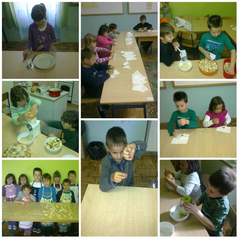 Djeca uživaju na satu domaćinstva