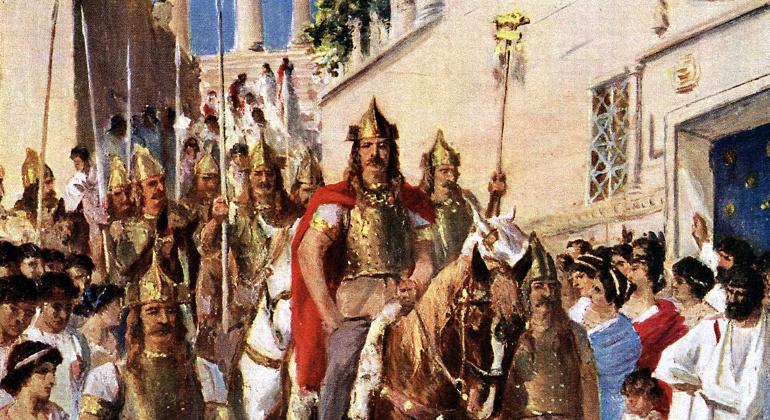 Ulazak Vizigota u Atenu IV. st