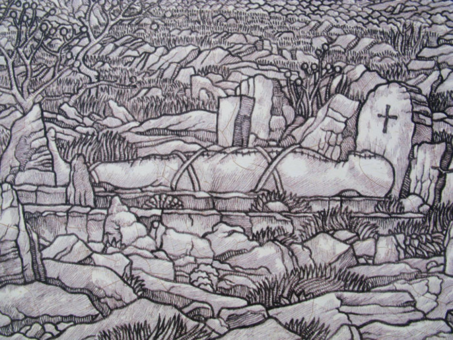 Prikaz pokojnika na mirilu (djelo Josipa Zankija)