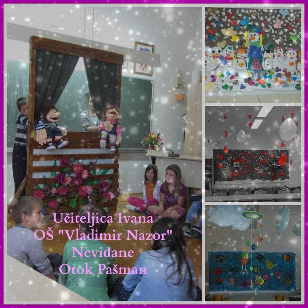Ivana Medić zaslužna je za prijavu koja je osigurala 455 lajkova i osvojeno 2. mjesto, jer eto  16 učenika u OŠ Vladimir Nazor u Neviđanima na otoku Pažmanu  'kroz godinu, sami stvaraju svoje bajke'
