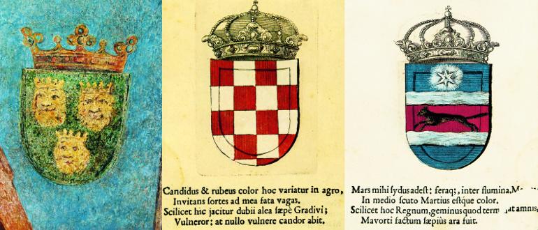 Grbovi – Dalmacija, Hrvatska, Slavonija