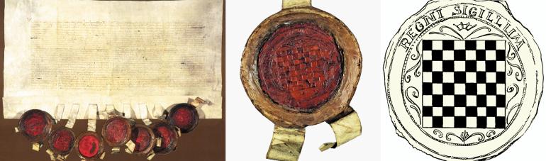 Isprava i pečat sa sabora u Cetinu 1527. Godine